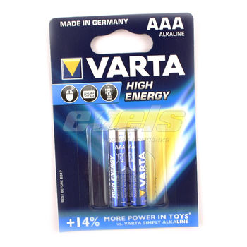 Элем.питания Varta HIGH ENERGY LR03/AAA х 2шт. блистер
